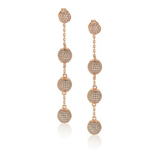 Suzy Levian Sterling Silver Cubic Zirconia Ball Drop Earrings