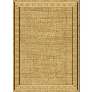 Renaissance Cream Contemporary Border Area Rug (2 x 7'7)