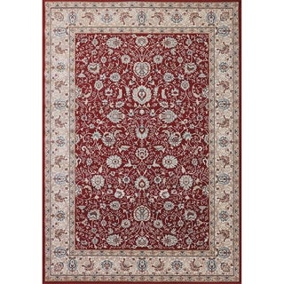 Cappella Traditional Floral Red Area Rug (2'2 x 10'10)