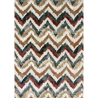 Cappella Faded Chevron Multi Area Rug (2'2 x 10'10)