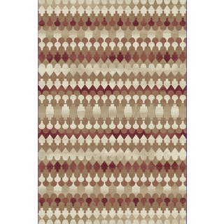 Capella Ikat Red/ Beige Area Rug (2'2 x 10'10)