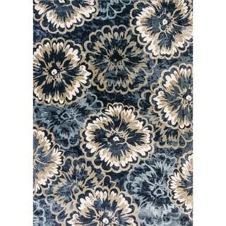 Cappella Floral Anthricite Area Rug (2'2 x 10'10)