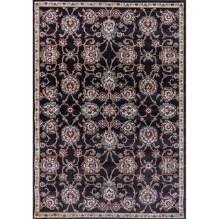 Cappella Traditional Medallion Anthracite Area Rug (2'2 x 10'10)