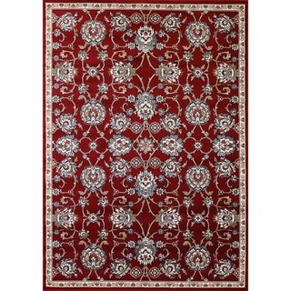Cappella Traditional Red Medallion Area Rug (2'2 x 10'10)