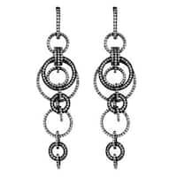 Suzy Levian Blackened Sterling Silver Cubic Zirconia Earrings