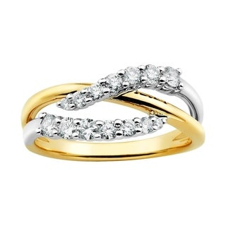 Boston Bay Diamonds 14K Two Tone Gold 1/2 Ct Diamond Fashion Ring (I, I1)