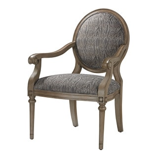 Luxe Grey Accent Chair
