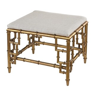 Tunbridge Stool with Bamboo Frame and Linen Seat