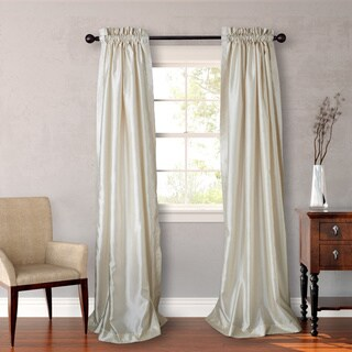 Heritage Landing 96-inch Faux Silk Lined Curtain Pair (Gold) (As Is Item)