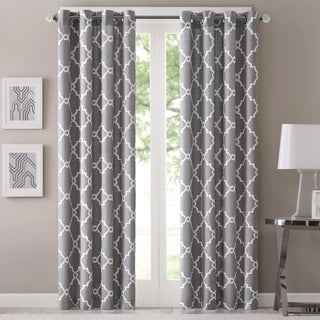 Madison Park Westmont Curtain Panel (Grey/ 50in x 95in)(As Is Item)