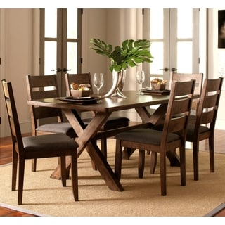Milano Rustic Knotty Shaped Edge Ladder Back Dining Set