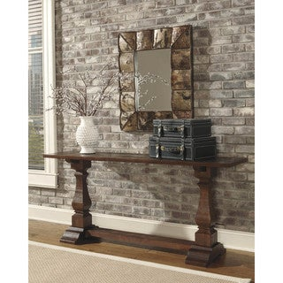 Signature Design by Ashley Vennilux Dark Brown Console Table