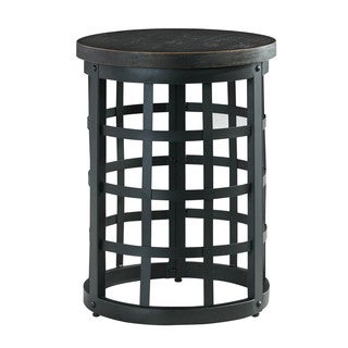 Signature Design by Ashley Marimon Black Round End Table