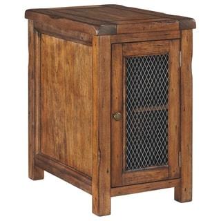 Tamonie Casual Chair Side End Table Medium Brown