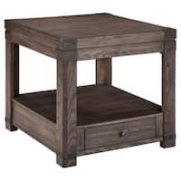 Signature Design by Ashley Burladen Grayish Brown Rectangular End Table