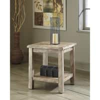 Signature Design by Ashley Vennilux Bisque Wood Chair-side End Table