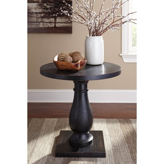 Signature Design by Ashley Vennilux Black Round End Table