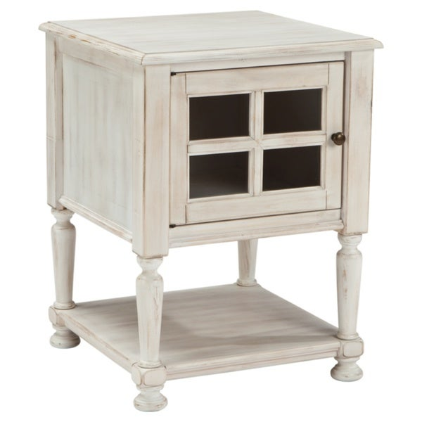 Signature Design by Ashley Mirimyn White Chair Side End Table