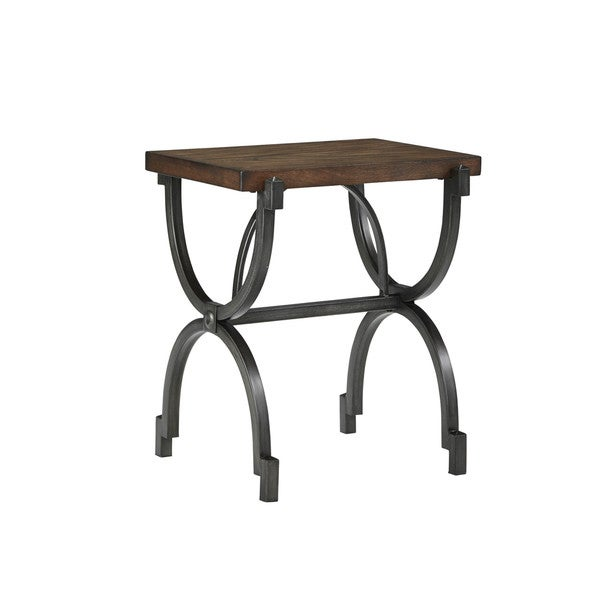 signature design by ashley baybrin rustic brown chair side end table baybrin rustic brown home office small