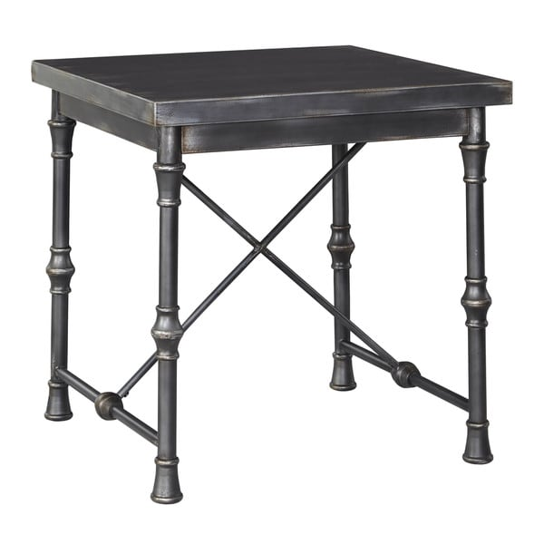 Signature Designs By Ashley Rollins Square End Table: Signature Design By Ashley Ballor Pewter Square End Table