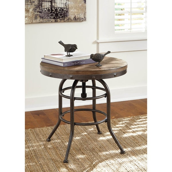 Signature Design By Ashley Brookfield Brown Round End: Shop Signature Design By Ashley Vennilux Grayish Brown
