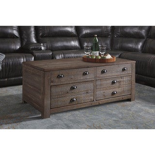 Signature Design by Ashley Keeblen Grayish Brown Rectangular Lift-Top Table