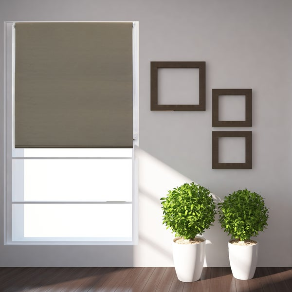 Roller Shades Product : Lewis hyman taupe blackout thermal fabric roller shade
