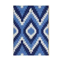 Alliyah Handmade Cream New Zealand Blend Wool Rug - 5' x 8'