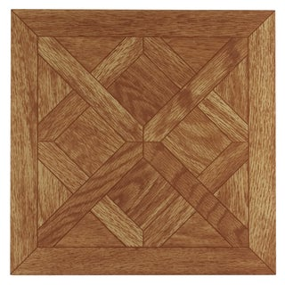 Achim Tivoli Classic Parquet Oak 12x12 Self Adhesive Vinyl Floor Tile - 45 Tiles/45 sq. Ft