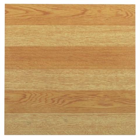 Achim Tivoli Light Oak Plank-Look 12x12 Self Adhesive Vinyl Floor Tile - 45 Tiles/45 sq. Ft