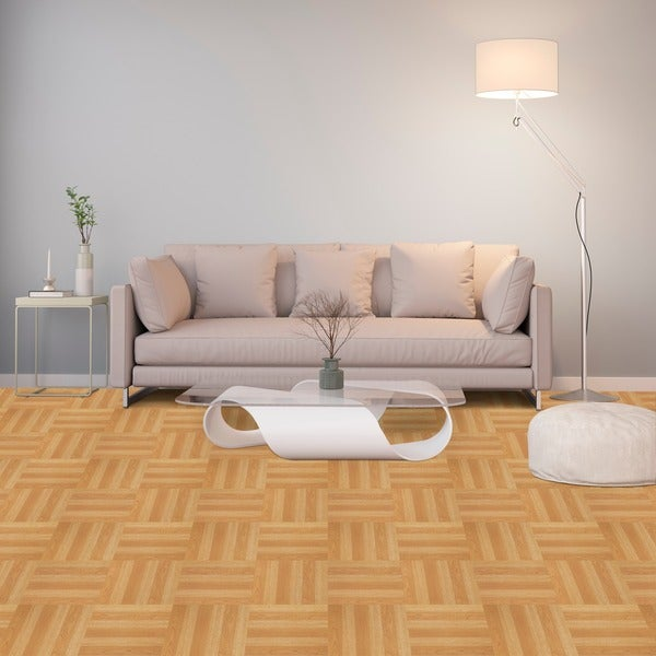 ... Achim Tivoli Light Oak Plank Look 12x12 Self Adhesive Vinyl Floor Tile  45 Tiles 45 Sq ...