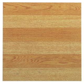 Tivoli Light Oak Plank-Look 12x12 Self Adhesive Vinyl Floor Tile - 45 Tiles/45 sq Ft.