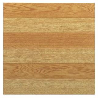 Achim Tivoli Light Oak Plank-Look 12x12 Self Adhesive Vinyl Floor Tile - 45 Tiles/45 sq Ft.