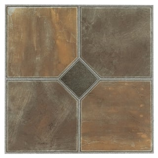 Tivoli Rustic Slate 12x12 Self Adhesive Vinyl Floor Tile - 45 Tiles/45 sq Ft.