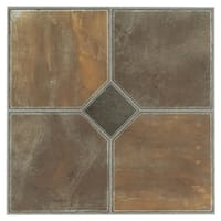 Achim Tivoli Rustic Slate 12x12 Self Adhesive Vinyl Floor Tile - 45 Tiles/45 sq Ft.