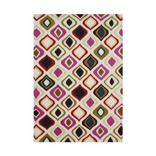Alliyah Handmade Abstract New Zealand Blend Wool Rug (5' x 8')