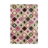 Alliyah Handmade Abstract New Zealand Blend Wool Rug (5' x 8') - 5' x 8'