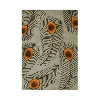 Alliyah Handmade Oak New Zealand Blend Wool Rug (8' x 10')