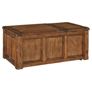 Tamonie Casual Rect Lift Top Cocktail Table Medium Brown