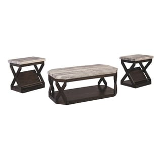 Signature Design by Ashley Radilyn Grayish Brown Occasional Table Set (Set of 3)