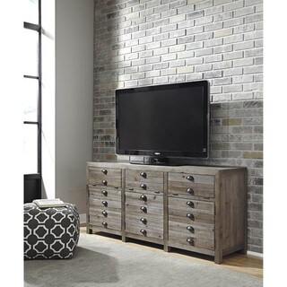 Signature Design by Ashley Keeblen Grayish Brown Extra Large TV Stand