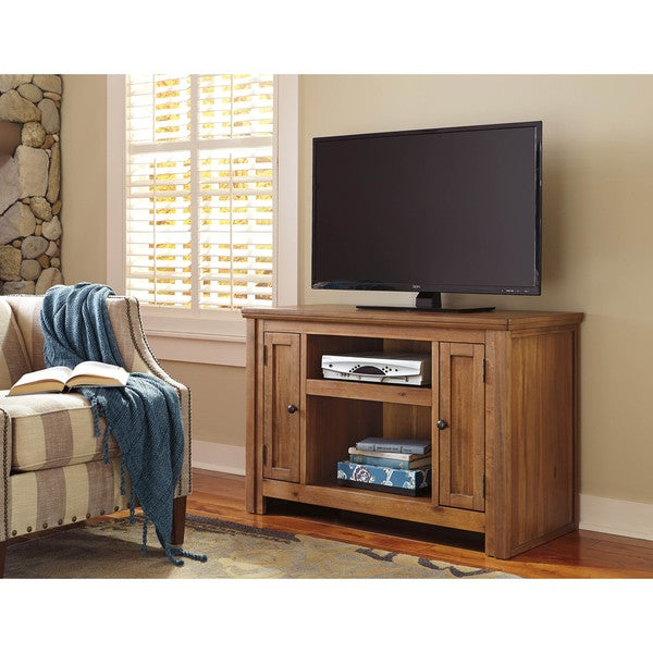 Small Tv Stand Designs : Shop signature design by ashley macibery grayish brown small tv