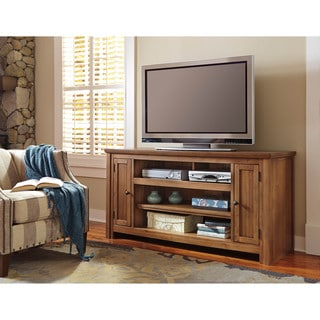 Signature Design by Ashley Macibery Grayish Brown Large TV Stand