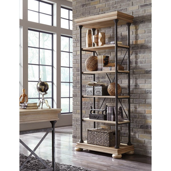 Shop Signature Design By Ashley Shennifin Light Brown Large Bookcase Overstock 10758656