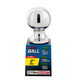 Towsmart 2-inch Chrome-plated Class II Hitch Ball - 3,500lb Cpacity