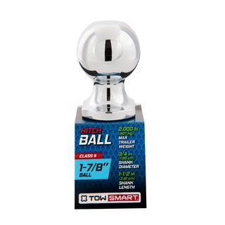 Towsmart 1-0.875 Chrome-plated Class II Hitch Ball-2,000lb Capacity