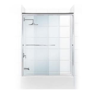 Paragon 3/8 Series Frameless Sliding Tub Door with Radius Curved Towel Bar
