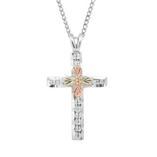 Black HIlls Gold on Silver Cross Pendant