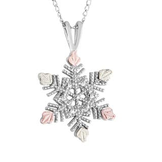 Black Hills Gold on Silver Snowflake Pendant|https://ak1.ostkcdn.com/images/products/10758749/P17811704.jpg?impolicy=medium
