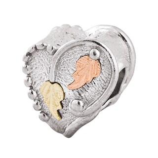 Black Hills Gold on Silver Heart Bead Charm